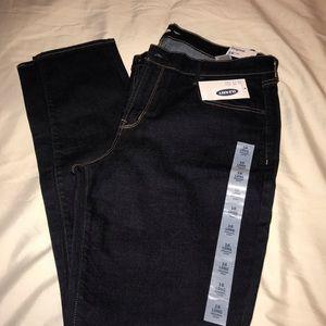 Original skinny dark blue Old Navy jeans.